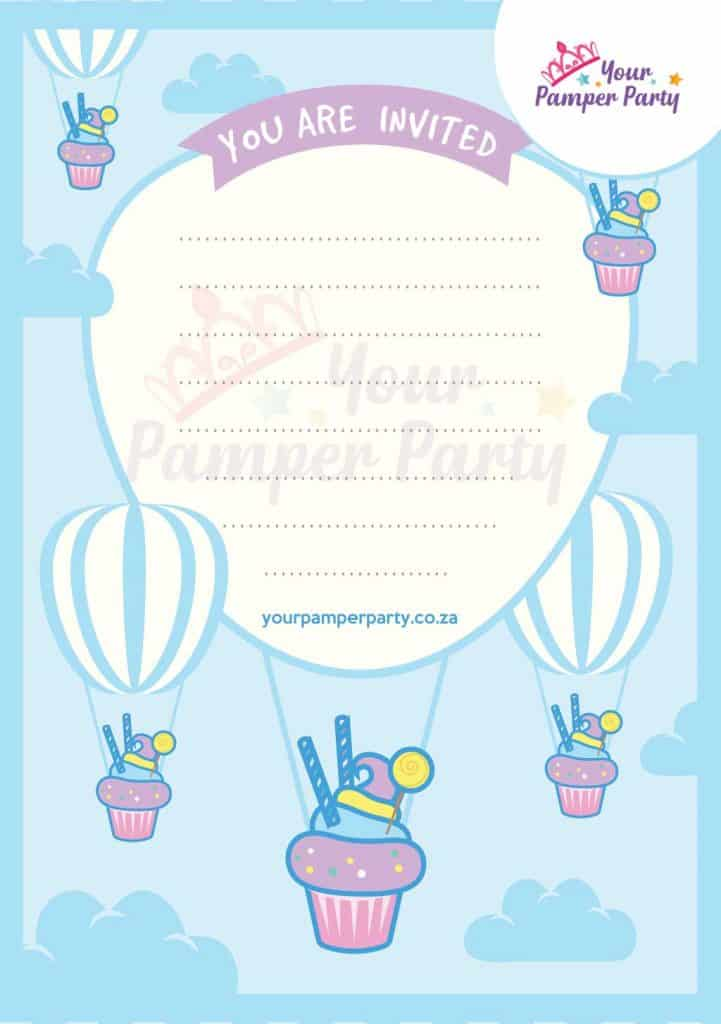 Pamper Party Invite2